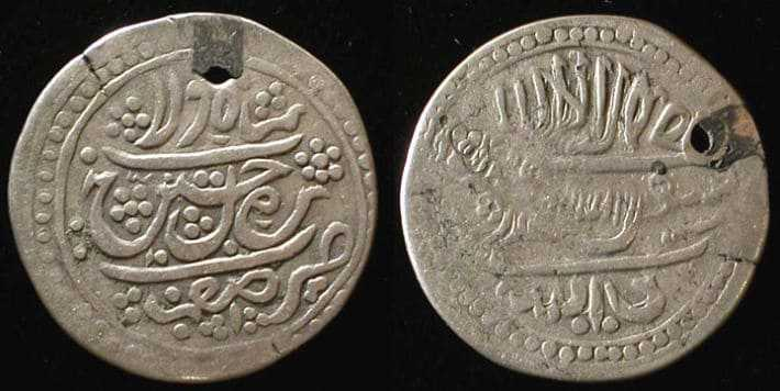 Серебреная монета abbasi