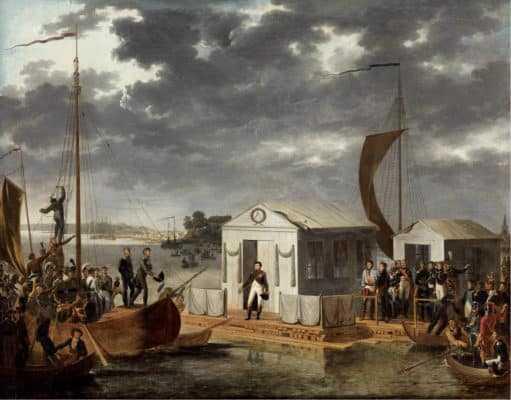 Адольф Роэн. Встреча Наполеона I и Александра I на Немане 25 июня 1807 года