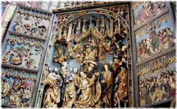 Крупнейший готический алтарь Европы. Мариацкий костел. Краков