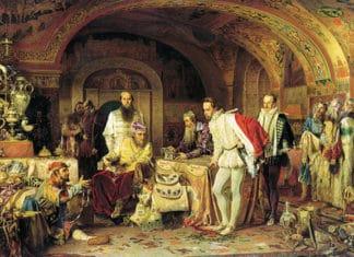 Асей. Картина Александра Литовченко, «Иван Грозный показывает свои сокровища английскому послу Горсею», 1875 год