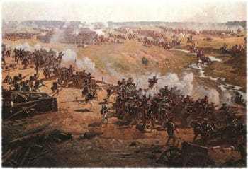 Франц Алексеевич Рубо (1856-1928) Гвардейские полки отражают атаки французской кавалерии.