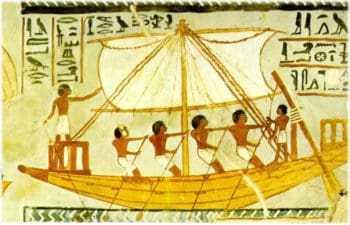 Изображение египетских кораблей