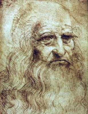 Картина Леонардо да Винчи «Автопортрет»