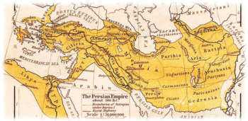Карта Персидской империи