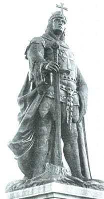 Памятник Альбрехту Медведю в Балленштедте