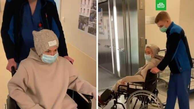 Ролик Леры Кудрявцевой в инвалидном кресле обеспокоил поклонников0