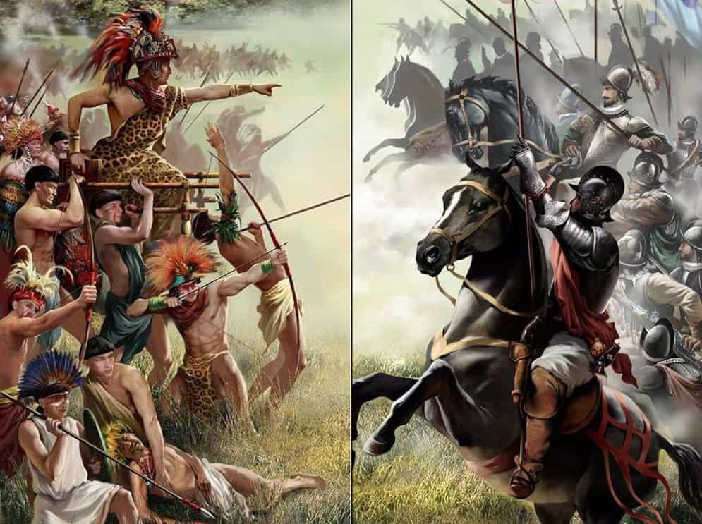 Сражение испанцев с индейцами
