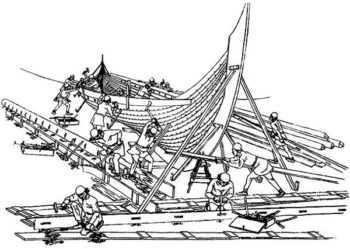Строительство скандинавского корабля