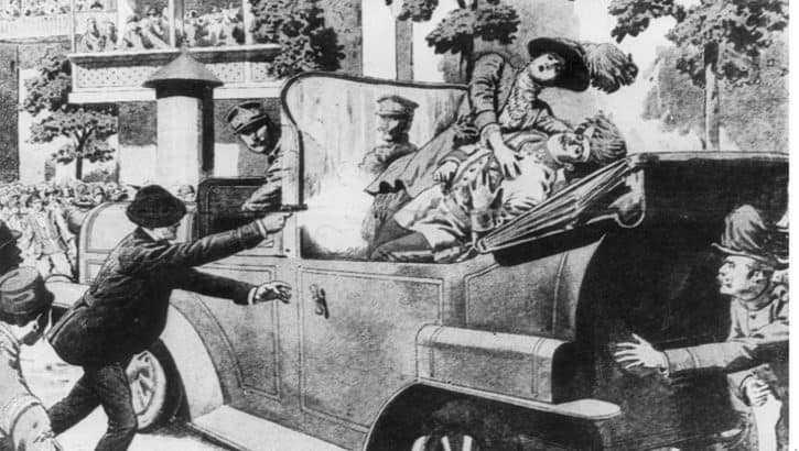 Роковое покушение на Эрцгерцога Фердинанда Австрийского