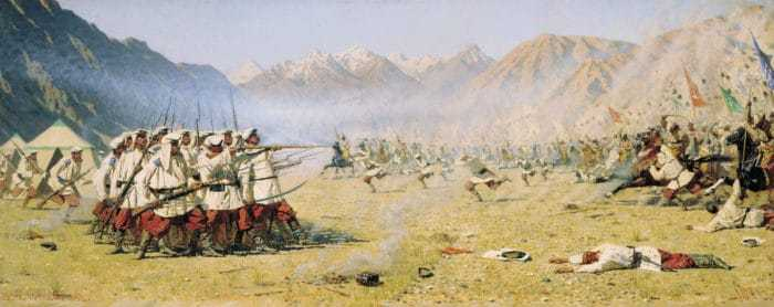 Василий Верещагин Нападают врасплох. 1871