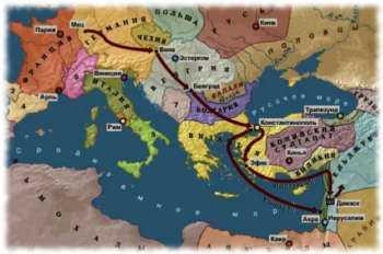 Карта второго крестового похода