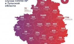 Коронавирус в Тульской области на 8 января 2021 года по городам и районам: сколько заболело и умерло