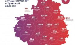 Коронавирус в Тульской области на 3 февраля 2021 года по городам и районам: сколько заболело и умерло