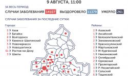 Коронавирус в Ростове-на-Дону 10 августа 2020 года: сколько заболевших на сегодня