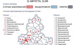 Коронавирус в Ростове-на-Дону 12 августа 2020 года: сколько заболевших на сегодня